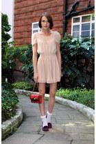 H&M dress - Oliver Bonas bag - Topshop socks - Bertie loafers