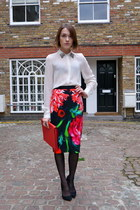 Peter Pilotto skirt - coach bag - Zara blouse - Kurt Geiger heels