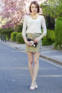 kate spade accessories - H&M skirt - Pollini sandals - Club Monaco top