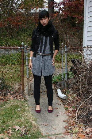Gap - To The Max jacket - Xhileration dress - vintage belt - forever 21 - Nine W