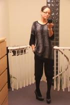black H&M top - gray Stella McCartney shoes