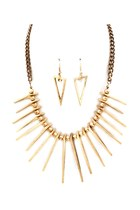 Necklaces &amp; earrings set - spikes