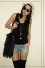 Zara-shorts-vintage-shirt-c-a-sunglasess-accessories