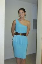 brown Wet Seal belt - blue dress