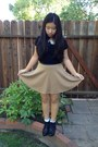 Thrifted-shoes-forever-21-skirt-urban-outfitters-top