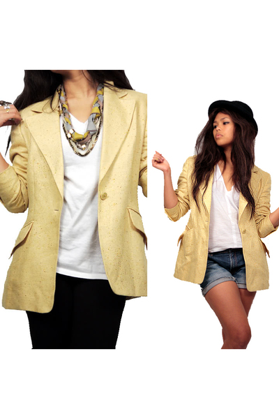 yellow escada blazer