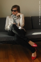 Witchery blazer - jeans - shoes - scarf - necklace - Scarlette & Sly sunglasses