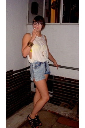 Only bra - COS t-shirt - shorts - shoes