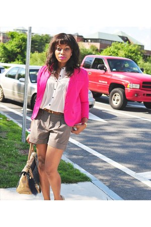 H&M blazer - nicole miller bag - Forever 21 accessories