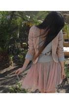 light pink Calliope skirt - light pink imperial jacket