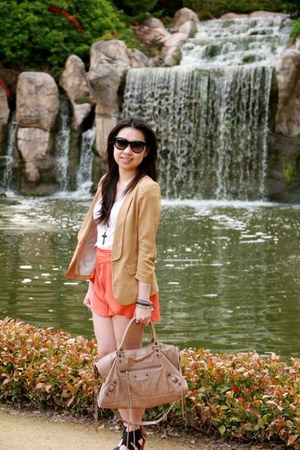 bronze Forcast blazer - carrot orange Cinch romper