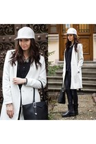 white Sheinsidecom coat