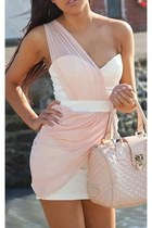 light pink bag - light pink dress