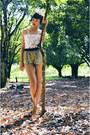 Mustard-sequin-zara-shorts