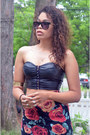 Black-aldo-sunglasses-black-urban-outfitters-top-ruby-red-forever-21-skirt