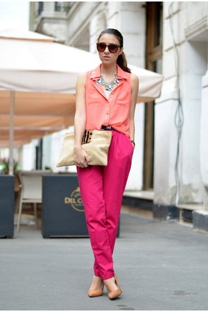 nowIStyle shirt - custom made bag - custom made pants - Bershka pumps
