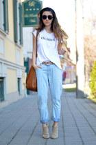 white Magazin Up t-shirt