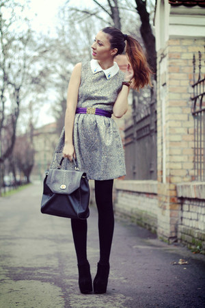 heather gray Sheinside dress