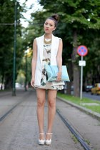 sammydresse heels - nowIStyle dress - custom made bag - H&M necklace - Zara vest