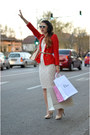 Eggshell-magazin-up-dress-red-zara-blazer