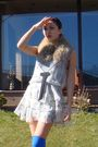 Gray-zara-dress-white-unknown-dress-gray-vintage-scarf-blue-random-branda-