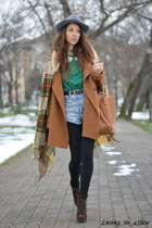 brown nowIStyle coat - green nowIStyle scarf - blue nowIStyle shorts