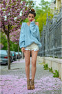 Sky-blue-choies-sweater-off-white-zara-shorts