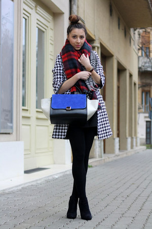 black Sheinside coat - blue PERSUNMALL bag