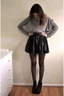 Heather-gray-topshop-jumper-black-studded-skirt-ark-skirt