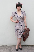 Dorothy Perkins dress - new look scarf - thrifted vintage bag - Office wedges