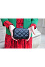 Black-oasap-vintage-clutch-bag-forest-green-h-m-blazer