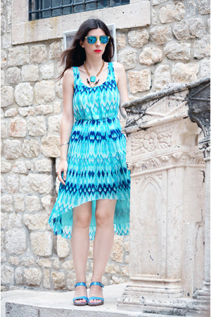 turquoise blue H&M dress