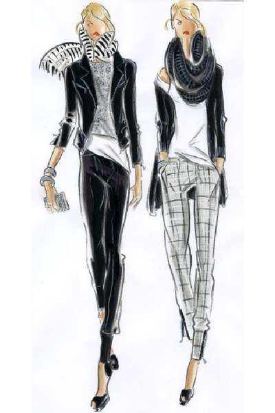 Black Fashion Designers on Black Pants  Gray Scarves    Layered And Ready   By Lauralai
