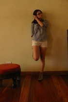 thrifted shirt - Old Navy shorts - thrifted shoes - DIY