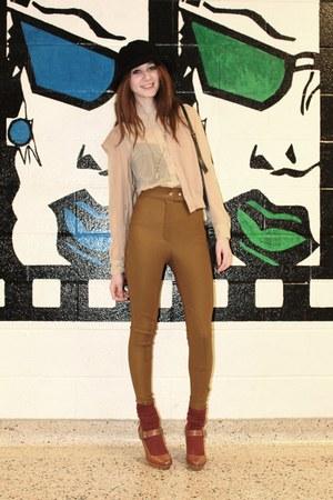 Zara shoes - black tank top Talula shirt - burgundy American Apparel socks