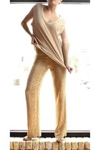 VINTAGE 1990s Gold Encrusted French Pants