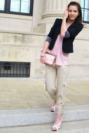 pink Express shirt - white Rue 21 shoes - Forever 21 blazer
