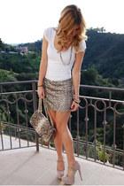 blush suede shoemint heels - snakeskin bag Chanel bag