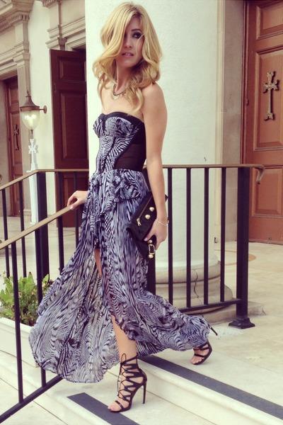 black Bebe dress - black Shoedazzle heels