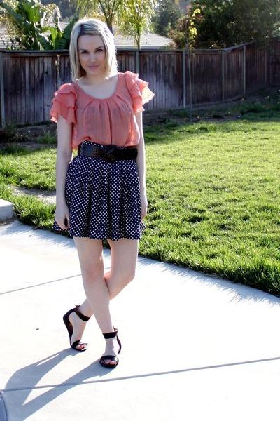 orange Target shirt - blue thrifted skirt - black thrifted belt - black Urban Ou