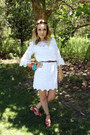 White-muse-dress-carrot-orange-anthropologie-sandals