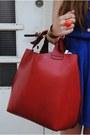 Black-sascha-boots-blue-primark-dress-blue-monki-hat-ruby-red-zara-bag