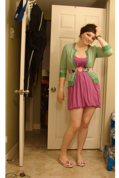 Old Navy sweater - garage dress - Betsey Johnson