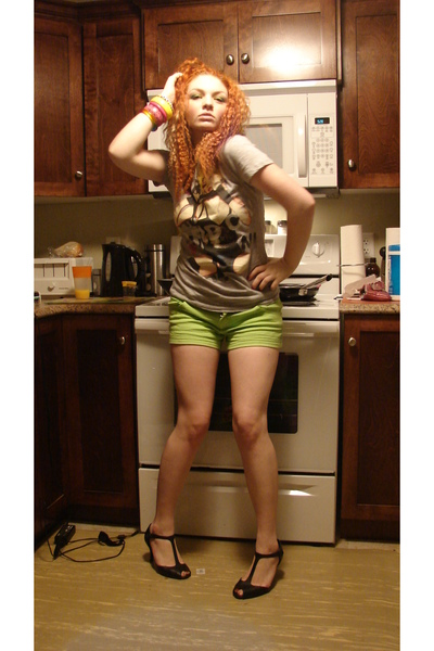 Madonna t-shirt - thrifted shorts - shoes - thrifted accessories