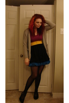 Betsey Johnson tights - Wal Mart skirt - Wal Mart skirt - Wal Mart belt - thrift