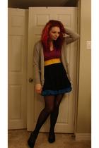 Betsey Johnson tights - Wal Mart skirt - Wal Mart skirt - Wal Mart belt - thrift