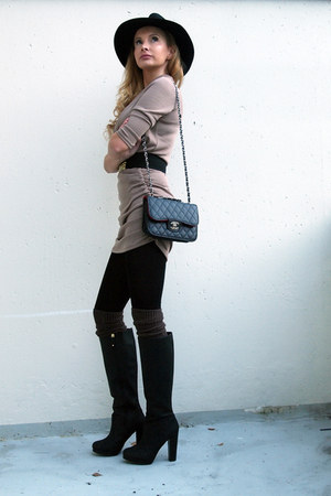 Mango jacket - Chanel bag - H&M accessories