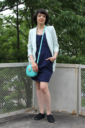 aquamarine no name blazer - navy no name dress