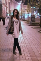 Topshop dress - Armani Exchange blazer - Urban Outfitters boots