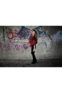 Black-boots-brick-red-jacket-black-tights